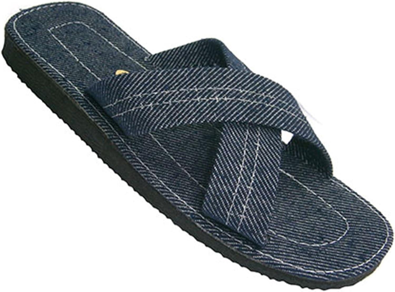 Chanclas Hombre Tiras Cruzadas Made in Spain en Tejano: Amazon.es: Zapatos y complementos