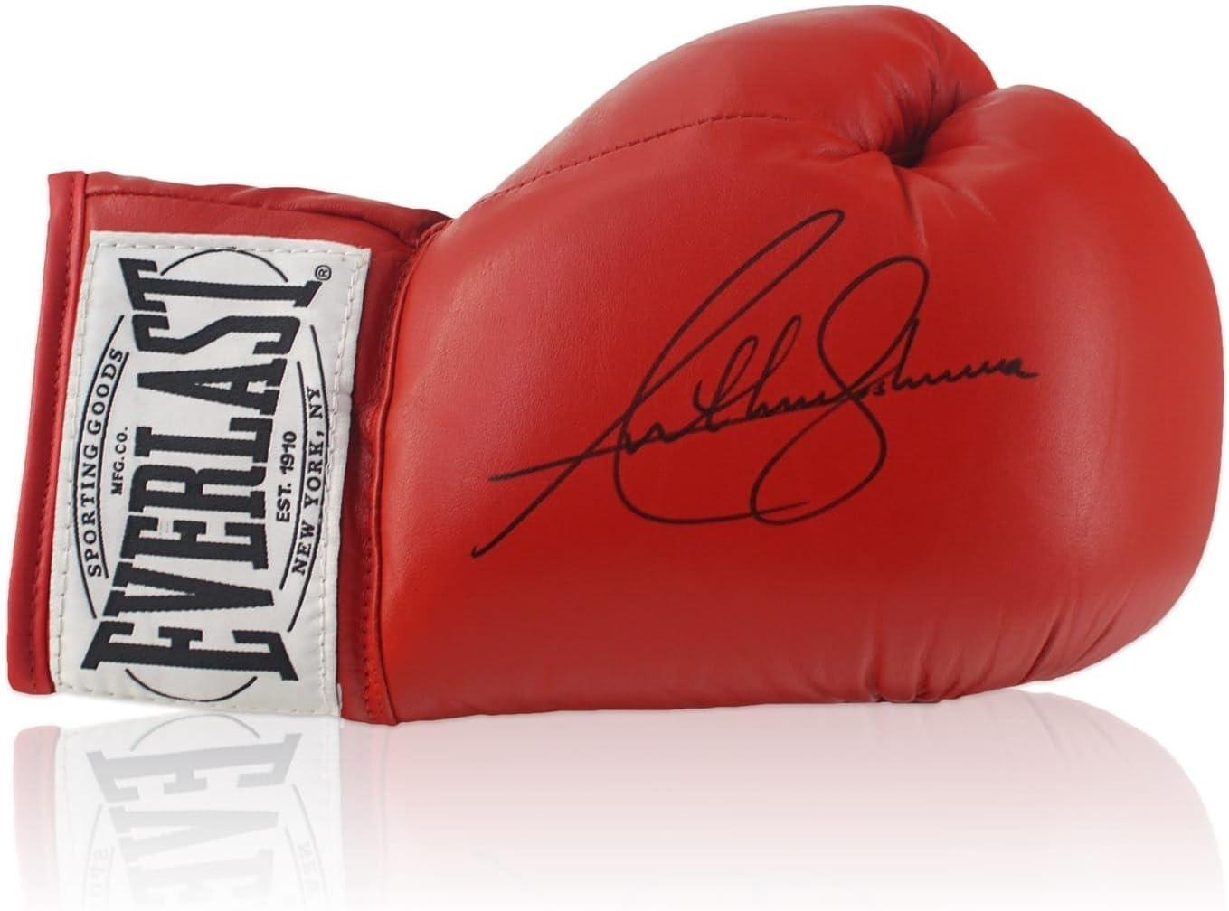 Red Guante de Boxeo Firmado Por Anthony Josué: Amazon.es: Deportes y aire libre