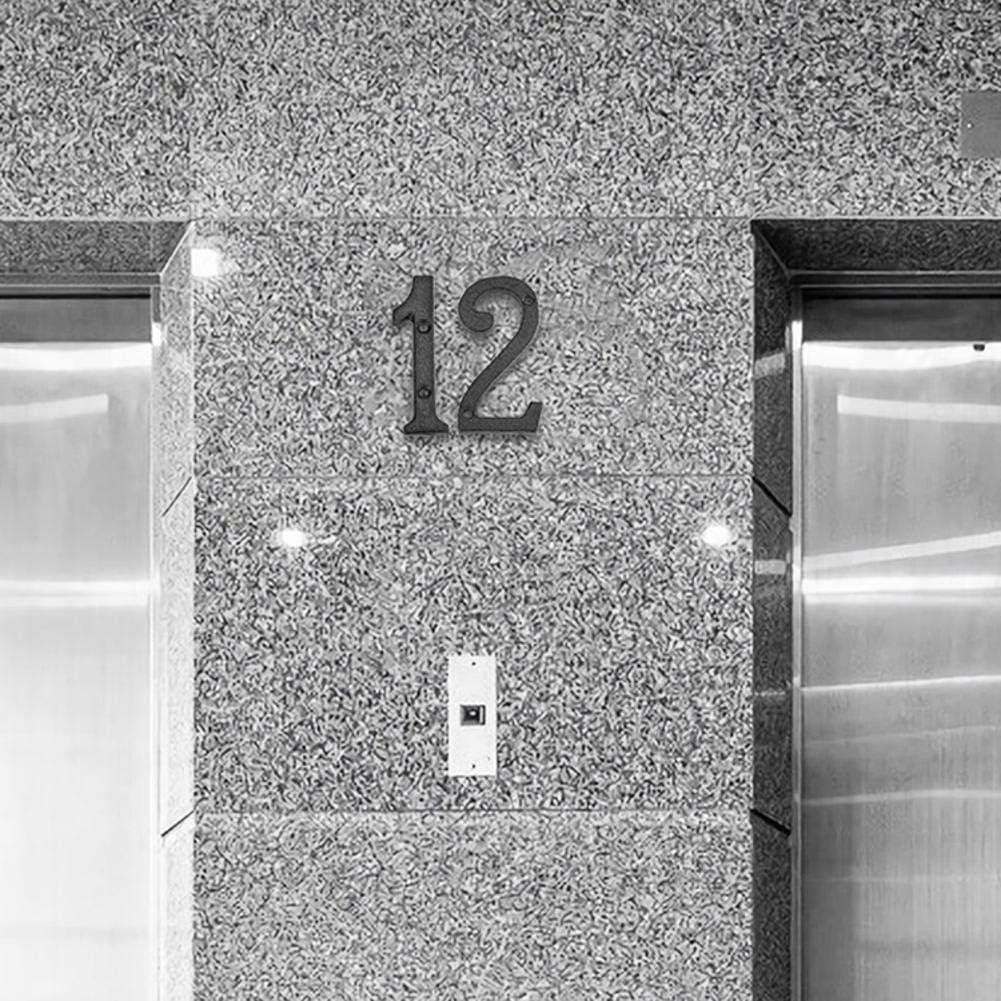 Decoraci/ón De Pared Placa de Hierro Fundido Con N/úmeros de Letras Y N/úmeros de Metal Para Puerta De Cafeter/ía Apariencia Flotante Altura De Aproximadamente 8 Cm