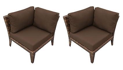 Awe Inspiring Amazon Com Tkc Manhattan Outdoor Wicker Corner Chair In Download Free Architecture Designs Scobabritishbridgeorg
