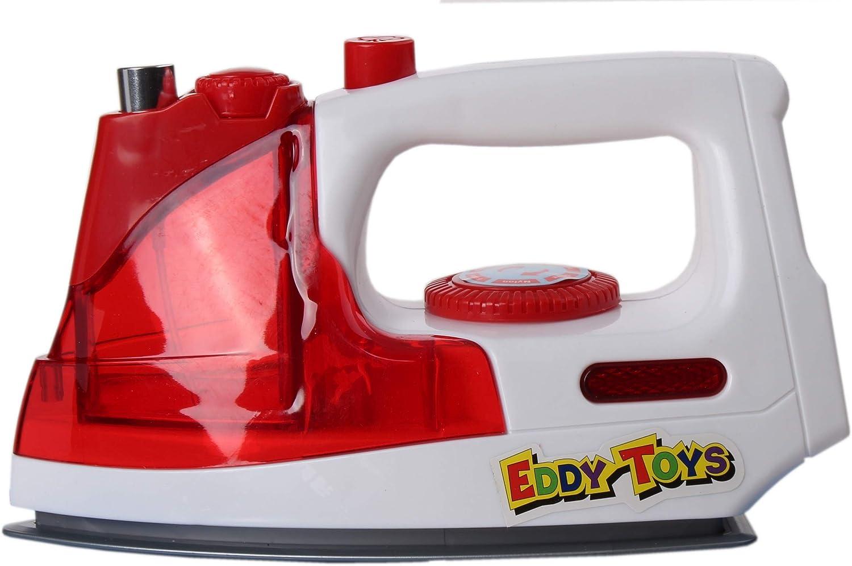 18 cm Eddy Toys Plancha con luz y sonido rojo//blanco