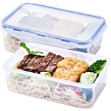 [2 Pack] Plastic Food Storage Containers, BPA-Free Food Containers Sets with Lids Meal Prep Container, Airtight Food…