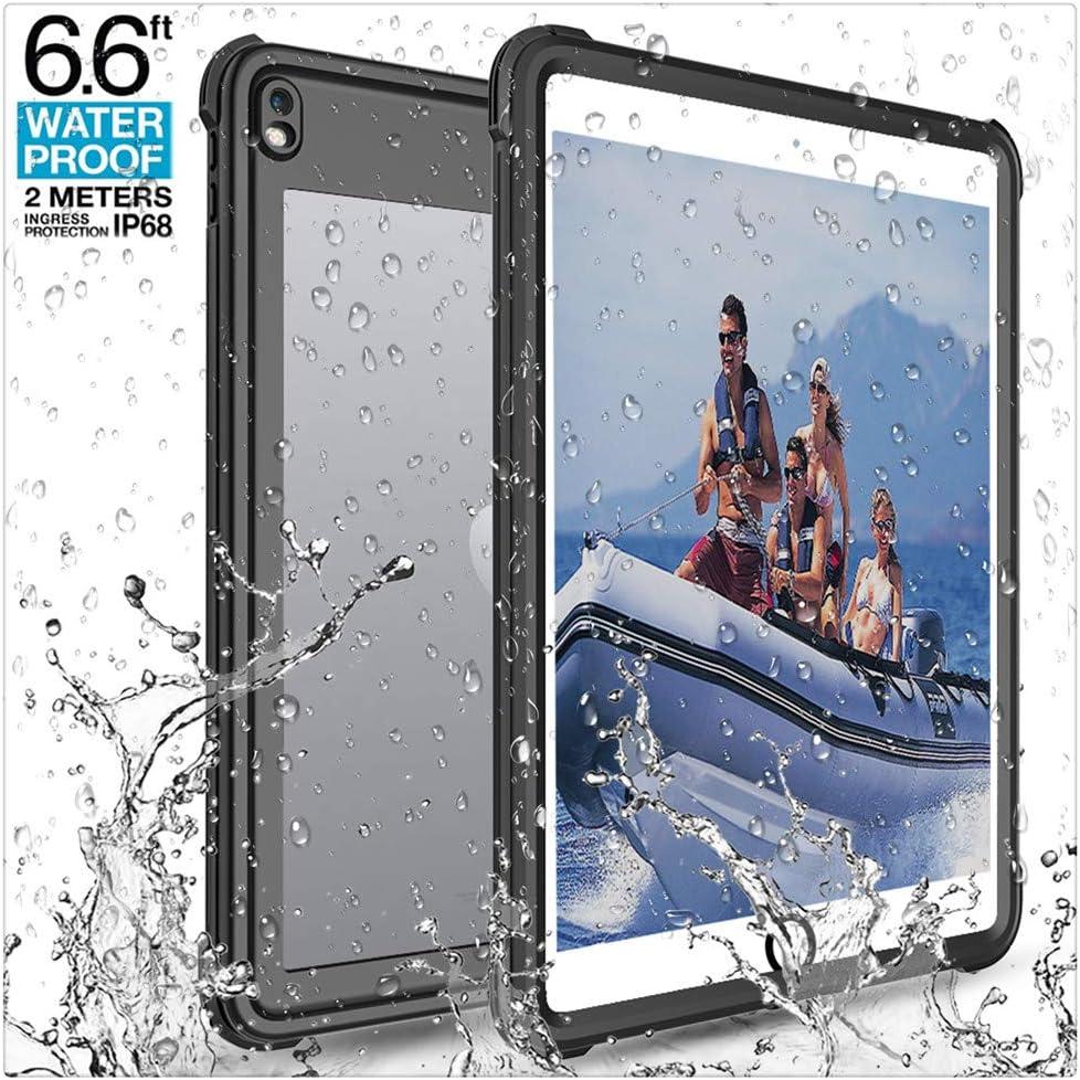 iPad Pro 10.5 Waterproof Case, Underwater Full-Body Sealed Waterproof Shockproof Rugged Kickstand Protective Cover Universal Waterproof Case for Tablets
