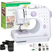 Hukunos Mini Sewing Machine, Electric Household Crafting Mending Portable Sewing Machines, 12 Stitches 2 Speed with Foot…