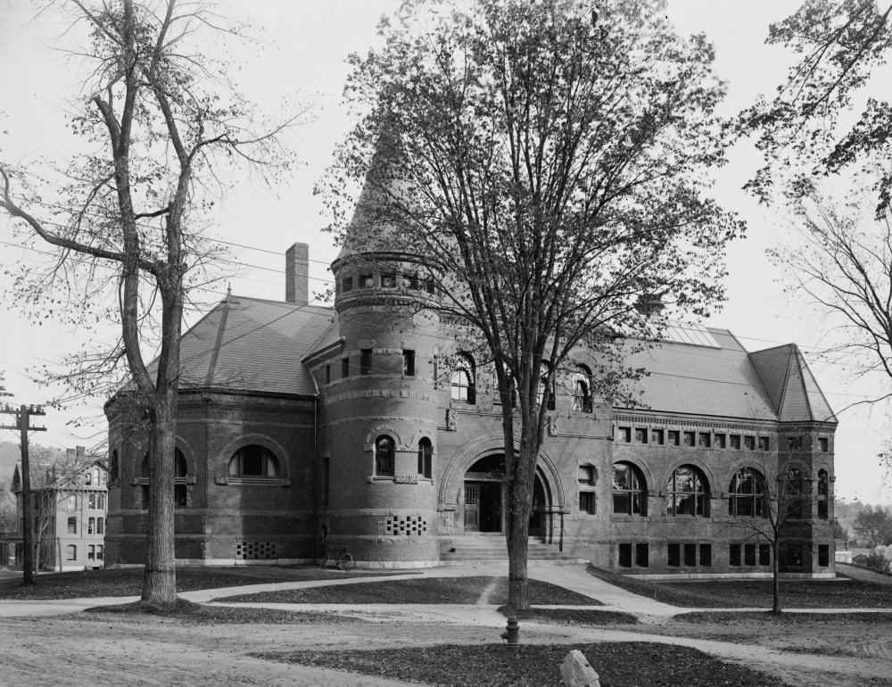 24 x 36 Dartmouth College C1900 Nwilson Library At Dartmouth College In Hanover New Hampshire Photograph C1900 Poster Print by