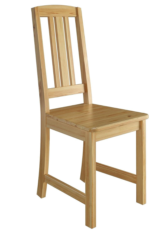 Erst-Holz® Küchenstuhl Massivholzstuhl Esszimmerstuhl Kiefer Stuhl Natur 90.71-22