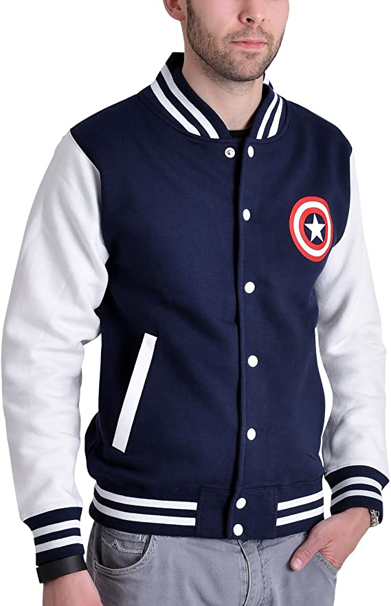 Captain America Civil War Logo College Jacke Elbenwald blau