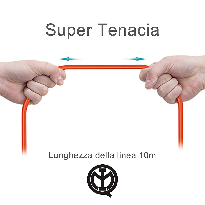 Extrastar Prolunga Da Giardino Con Pratico Supporto Spina Grande 16 A Presa Pluristandard Sezione Cavo 3 x 1,5 mm/² Arancio 20 Meter.