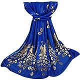 Women Scarves, Rcool Women Printed Gilded Peacock Soft Muffler Wrap Scarf Chiffon Scarf Shawl Stoles