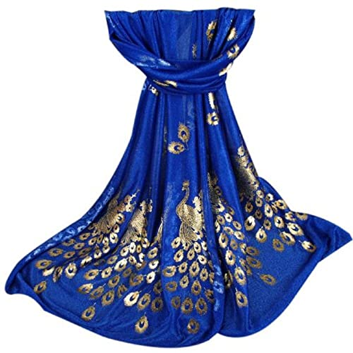 Women Scarves, Rcool Women Printed Gilded Peacock Soft Muffler Wrap Scarf Chiffon Scarf Shawl Stoles