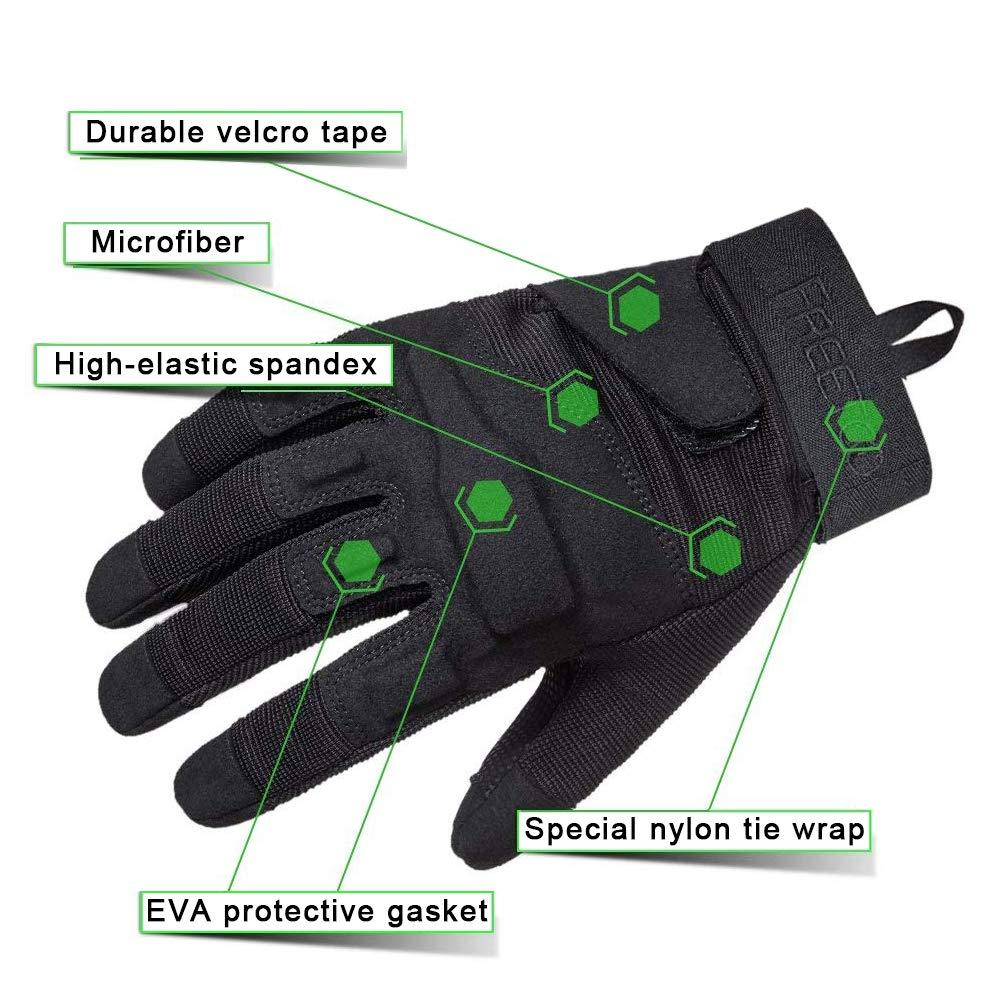 TPRANCE Tactical Gloves for Men, Full Finger Hard Knuckle Gloves for Outdoor Sports by TPRANCE (Image #4)