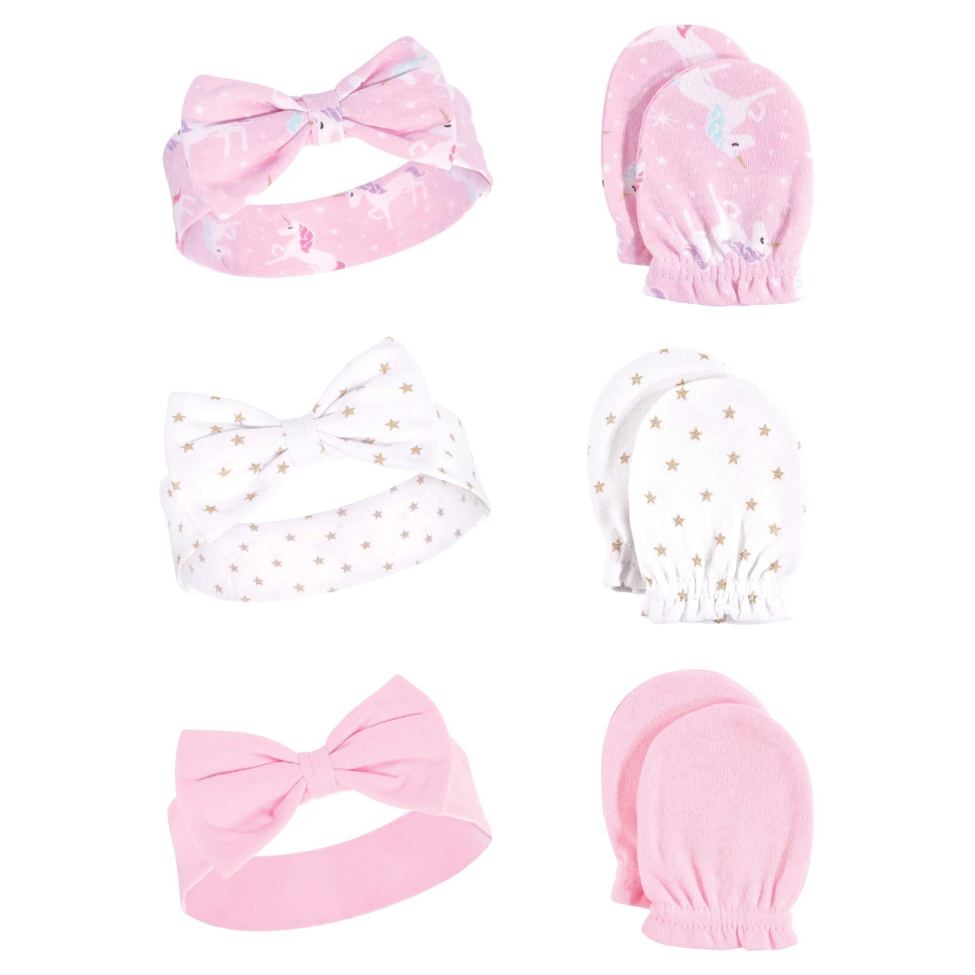 Unisex Cotton Headband and Scratch Mitten Set
