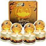 SCENTORINI Scented Candles, 4 x 2.5 oz Soy Wax Candles Gift Set, Halloween Decorations, Aromatherapy Candles Gift Set for Fri