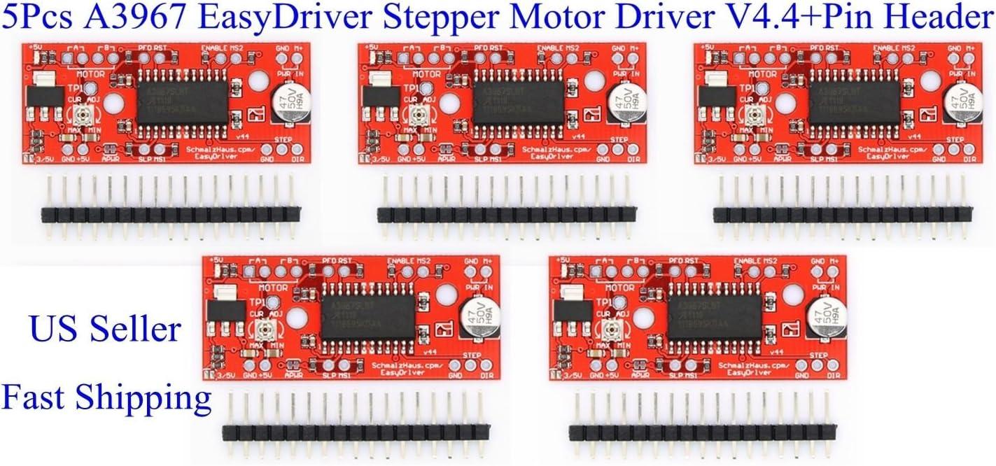 +USA 3 PCS EasyDriver V4.4 Shield Stepper Motor Driver A3967 Arduino