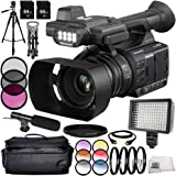 Panasonic AG-AC30 14PC Accessory Bundle - Includes 3 Piece Filter Kit (UV + CPL + FLD) + 6PC Graduated Filter Kit + 64 GB SD Memory Card + ND Filter + Carrying Case + 160 LED Video Light + MORE