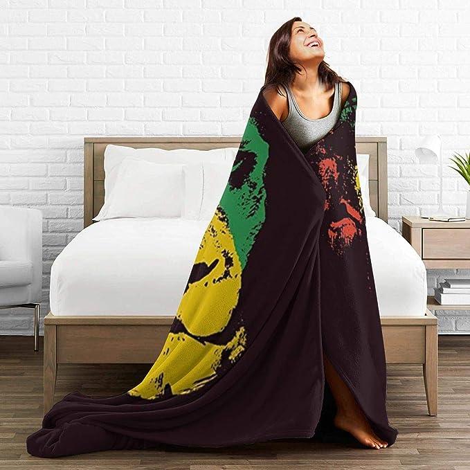AIMILUX Face Cover,Green Marley Lion Head Rasta Red Bob Reggae Judah Jamaica Color,Riutilizzabile Antivento Antipolvere Bandane Bocca da Campeggio allaperto da Moto Ghette da Collo con 2 filtri
