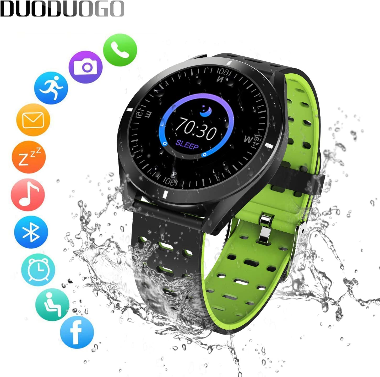 DUODUOGO Reloj Inteligente Resistente al Agua IP 68, Monitor ...