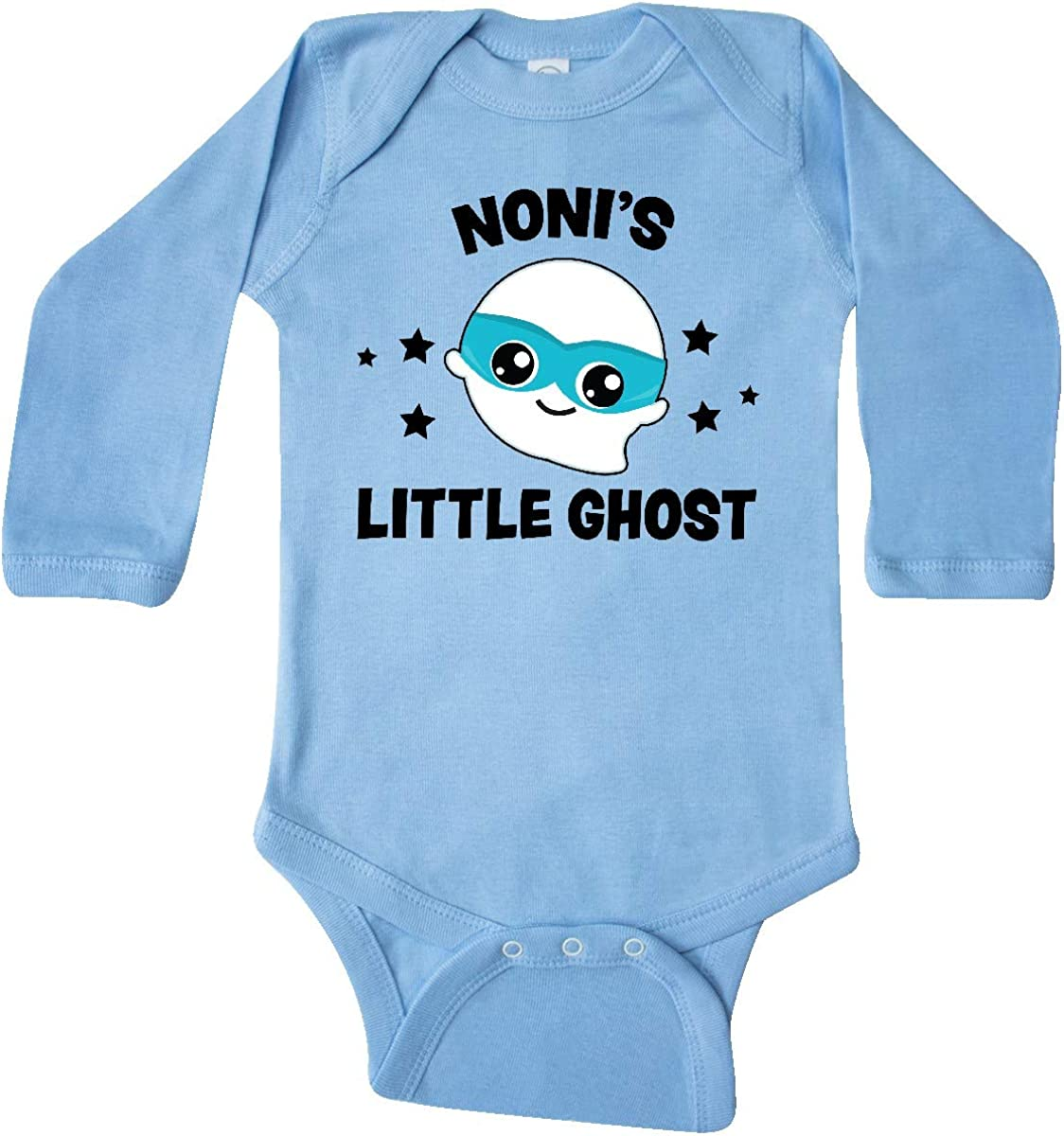 inktastic Cute Nonis Little Ghost with Stars Long Sleeve Creeper