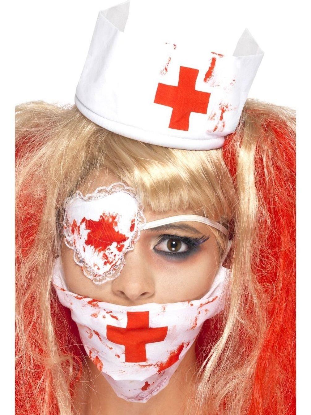 Uwant Fashion Halloween Nurse Kit Blood Zombie Horror Ladies Fancy Dress Accessory Set