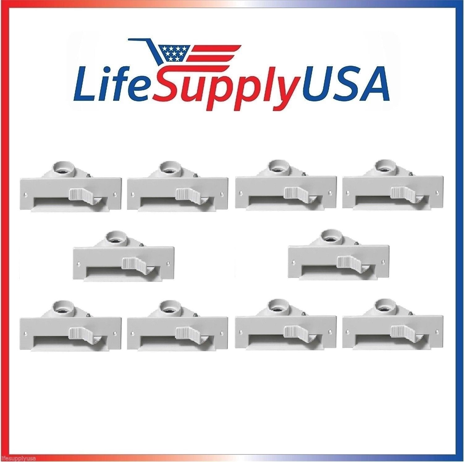 LifeSupplyUSA 10 New Central VAC PAN Vacuum Automatic Dustpan Sweep Inlet VALVES in White