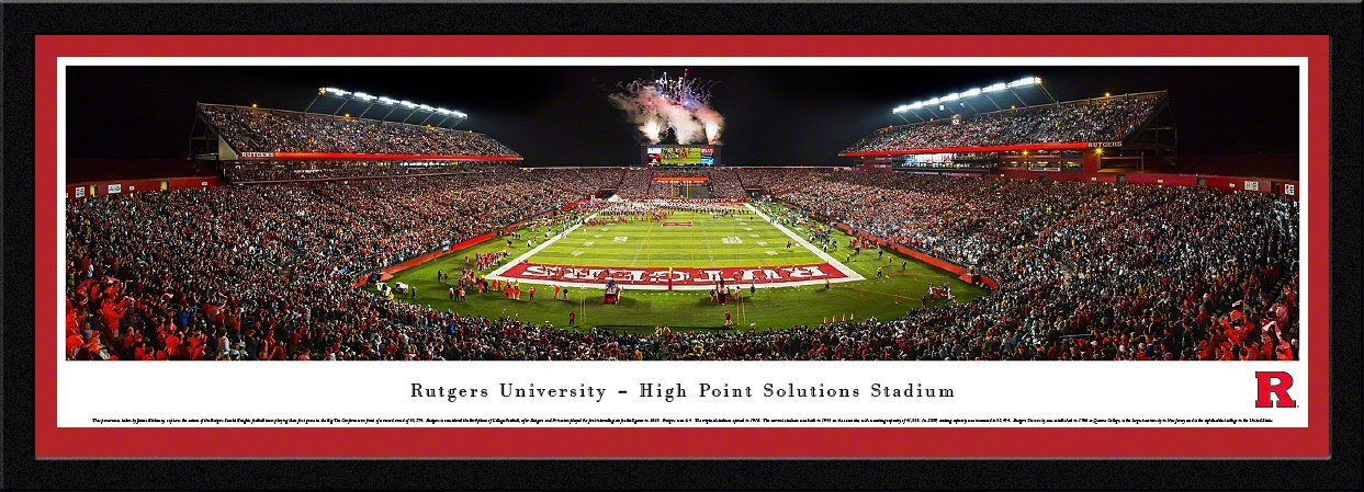 Rutgers Football - Blakeway Panoramas College Sports Posters with Select Frame by Blakeway Worldwide Panoramas, Inc.