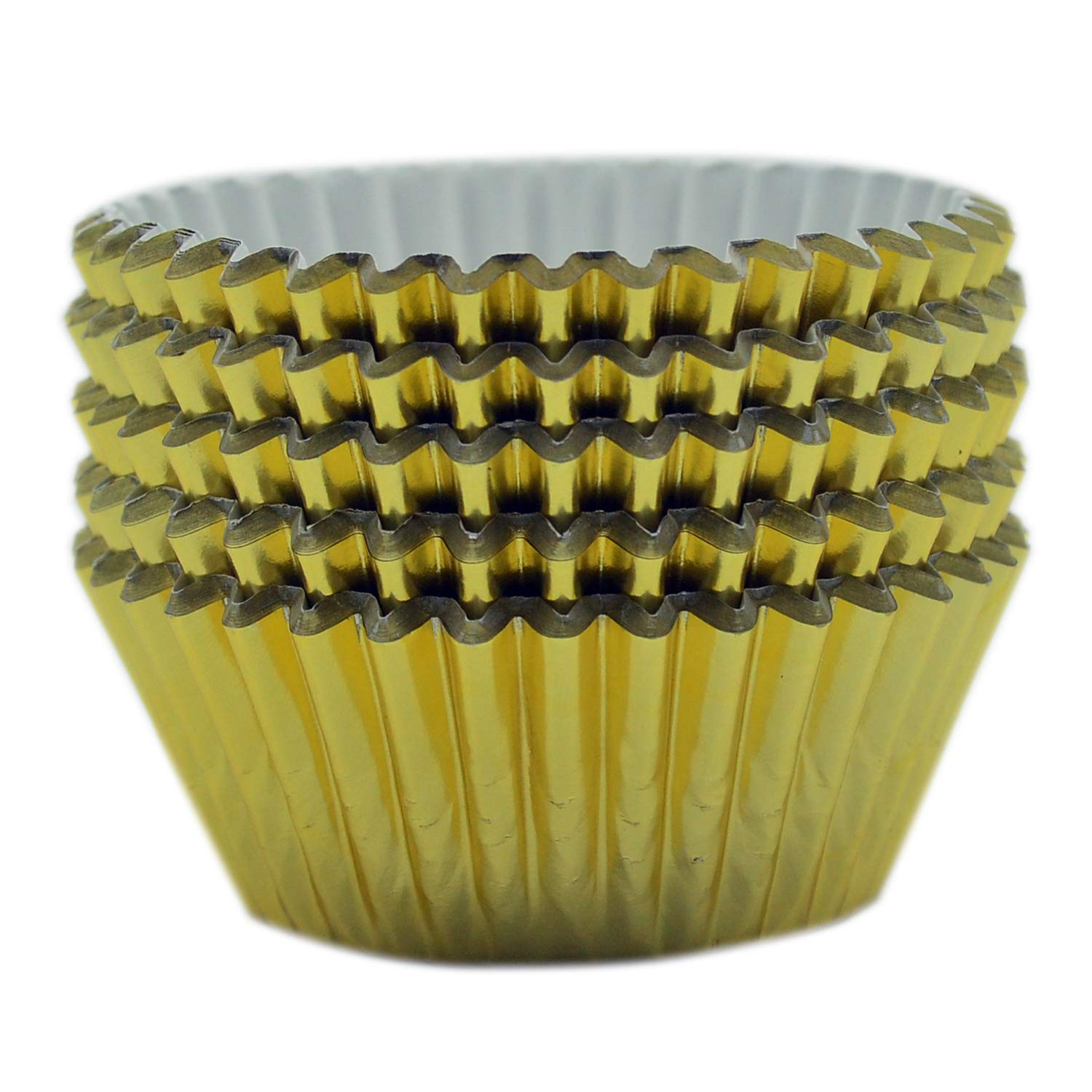 Mombake Standard Gold Foil Cupcake Liners Muffin Baking Cups for Party and More, 200-Count