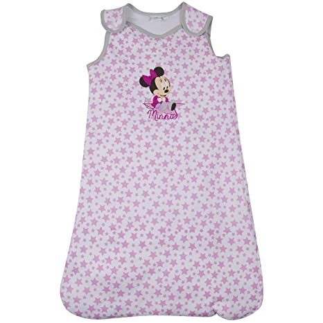 Disney Mickey Mouse Minnie – – Saco de dormir para bebé niña de algodón, color