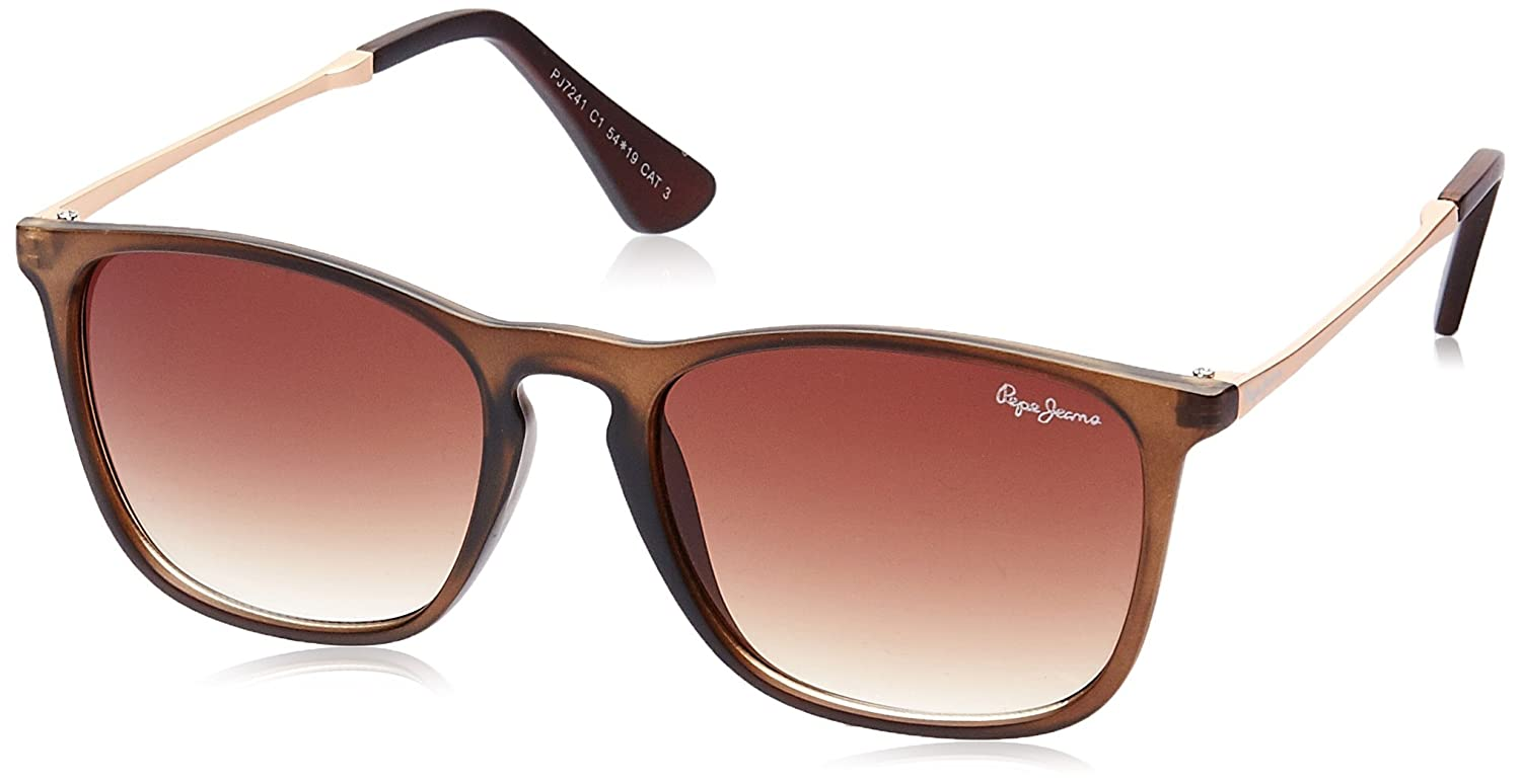 7d140f6042eab8 Pepe Jeans Mirrored Wayfarer Unisex Sunglasses - (PJ7241C1|54|Brown lens):  Amazon.in: Clothing & Accessories