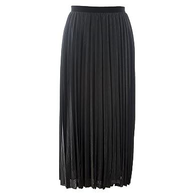 28abd3c41d Marina Rinaldi Women's Occhiare Pleated Maxi Skirt Silver at Amazon Women's Clothing  store: