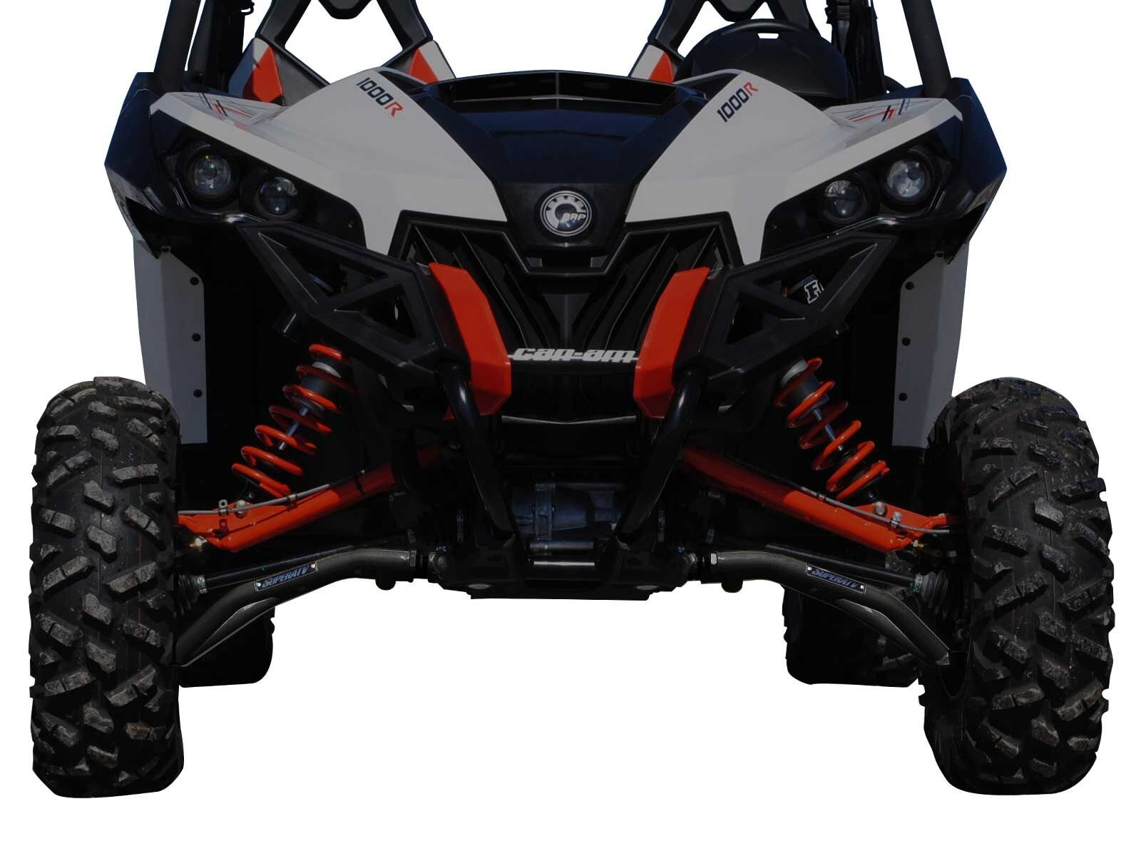 SuperATV High Clearance Front A-Arms for Can-Am Maverick DPS/XMR/XRS/MAX/Turbo (See Fitment) - Black