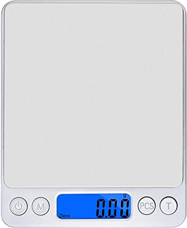 Bostecks Precision 3kg//0.1g Balance de Cuisine Electronique Balance Num/érique Cuisine de Haute Pr/écision Acier Inoxydable /Écran LCD R/étro/éclair/é