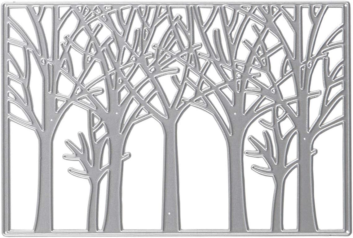 Cutting Dies Metal, Forest Embossing Stencils for DIY Scrapbooking Photo Album Decorative DIY Paper Cards Making Gift, Metallic Die Cut