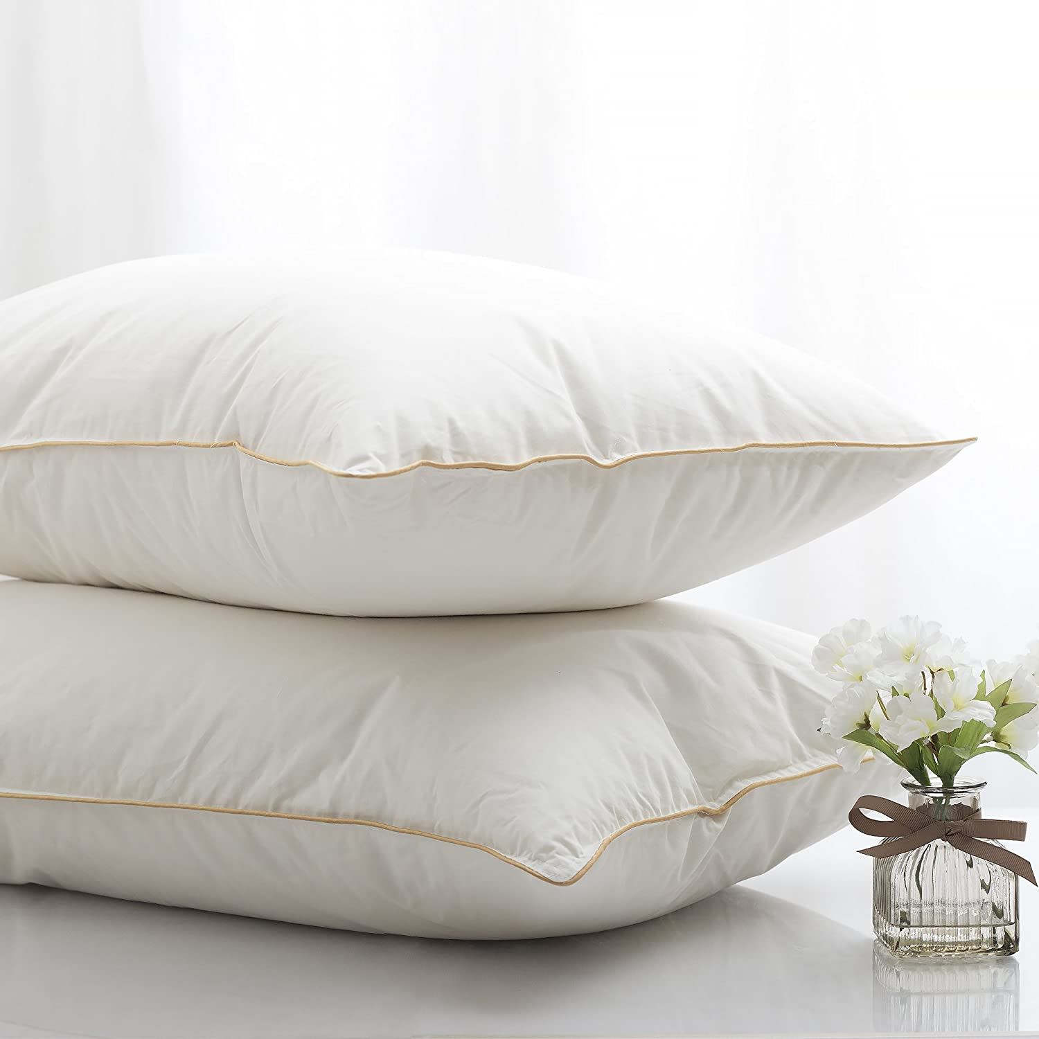 home soft great extra pillow bed amazon standard stomach very com down kitchen duck sleepers flat for pillows dp