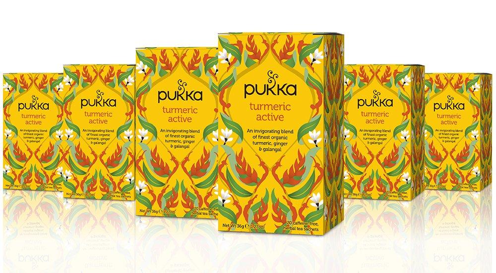 Pukka Turmeric Active, Organic Herbal Tea With Ginger & Galangal (6 Pack, 120 Tea Bags)