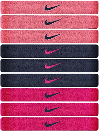 Amazon.com   Nike Sport Hair Bands - 9 Pack (Mango Black Orange ... e0e8b28252c4