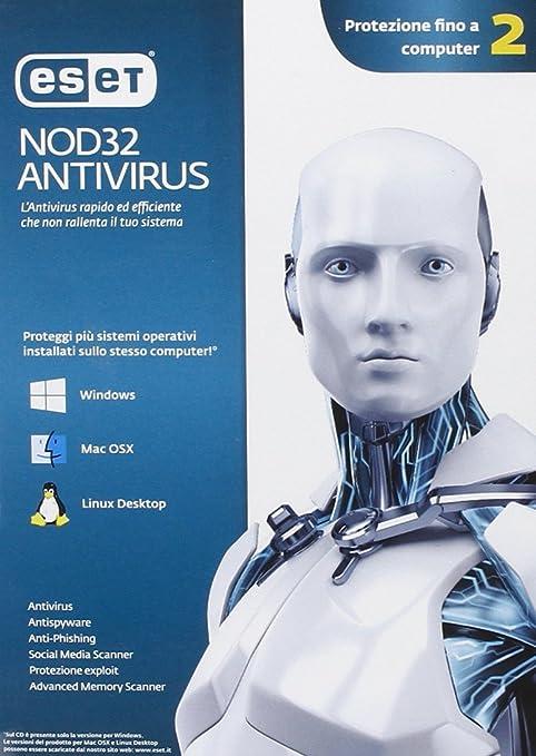 9 opinioni per Eset NOD32 Antivirus versione 7- fino a 2 Utenti