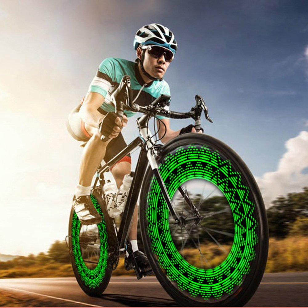 Blinkle Bike Wheel Light Rechargeable Bicycle Tire Spoke Lights Waterproof USB Wheel Safety Light with 28 Different Patterns for Road Bikes by Blinkle (Image #2)