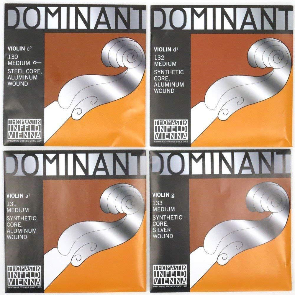 Cordes Thomastik Violon Dominant Noyau plein nylon Taille 3//4; R/é Alu.