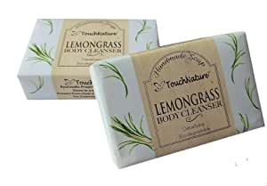 Touch Nature Lemongrass Handmade Soap. All Natural. Moisturizing. No SLS and Parabens. (2pc 100gm)