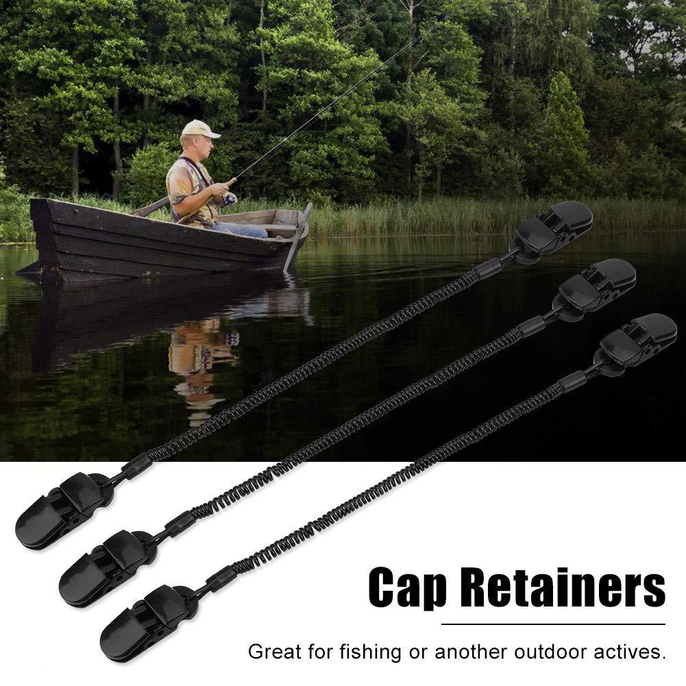 Delaman Clip per Cappelli cap Retainer per Porta Attrezzi da Pesca e Cavo Arrotolato 3pcs Nero