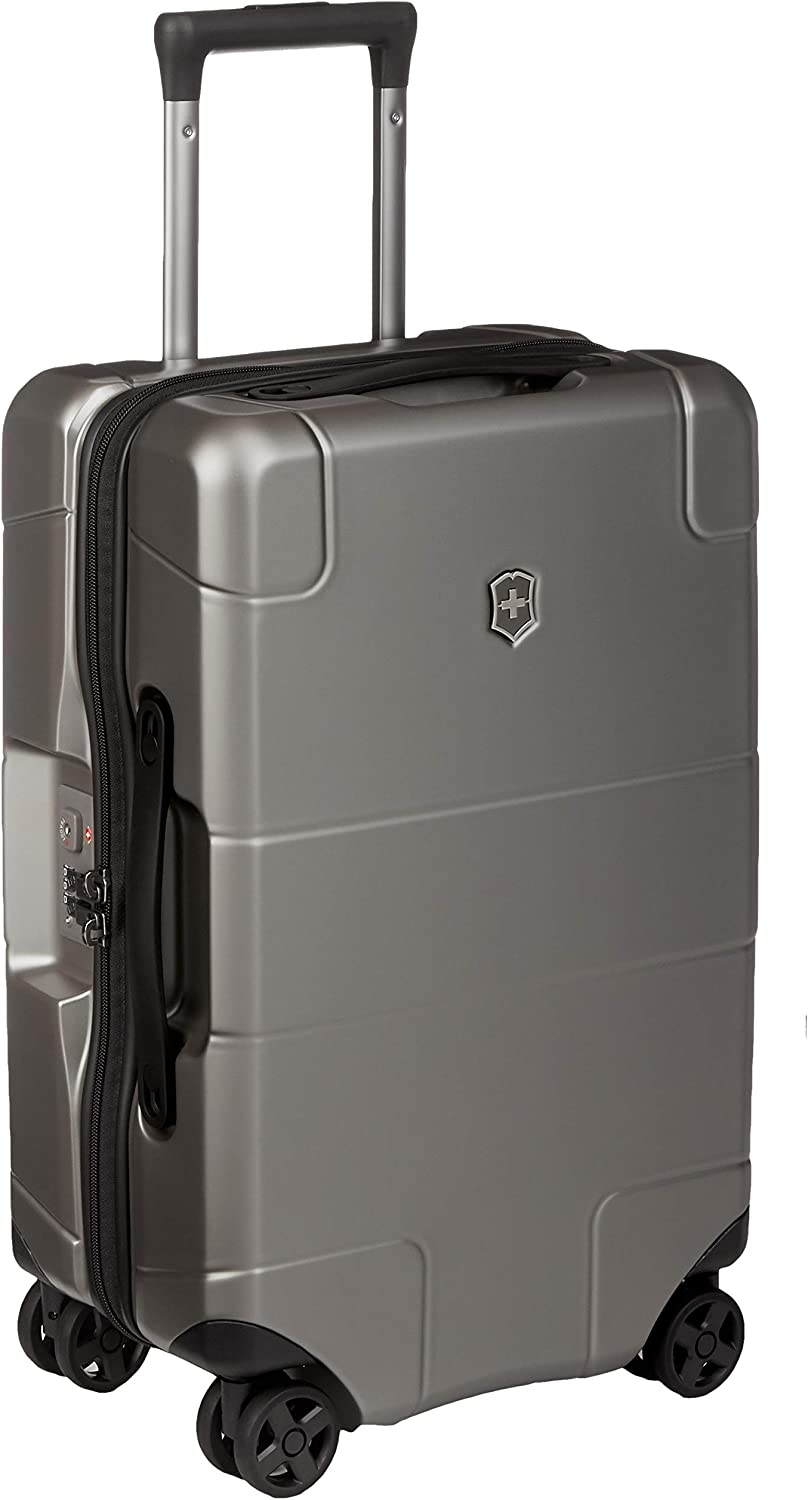 "Victorinox Lexicon Hardside Expandable Spinner Luggage, Titanium, Carry-On, Frequent Flyer (22"")"