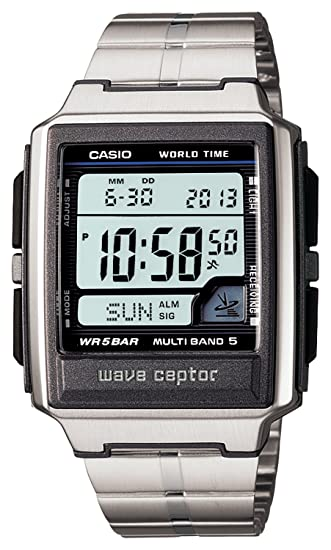 Amazon.com: Reloj CASIO WAVE CEPTOR Waveceptor radio reloj ...