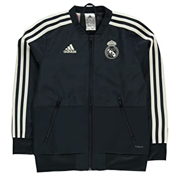 Amazon.com: adidas 2018-2019 Real Madrid Presentation Jacket ...