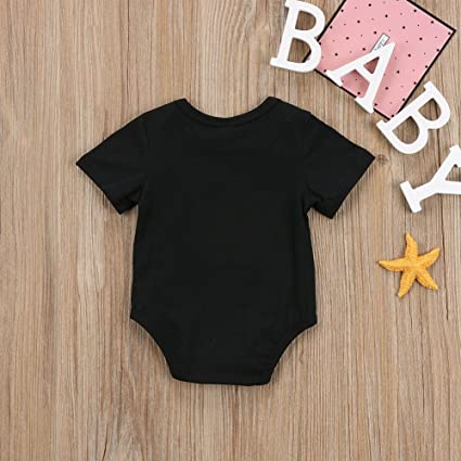 Newborn Baby Girls Bodysuit Short-Sleeve Onesie USA Parkour Print Outfit Winter Pajamas