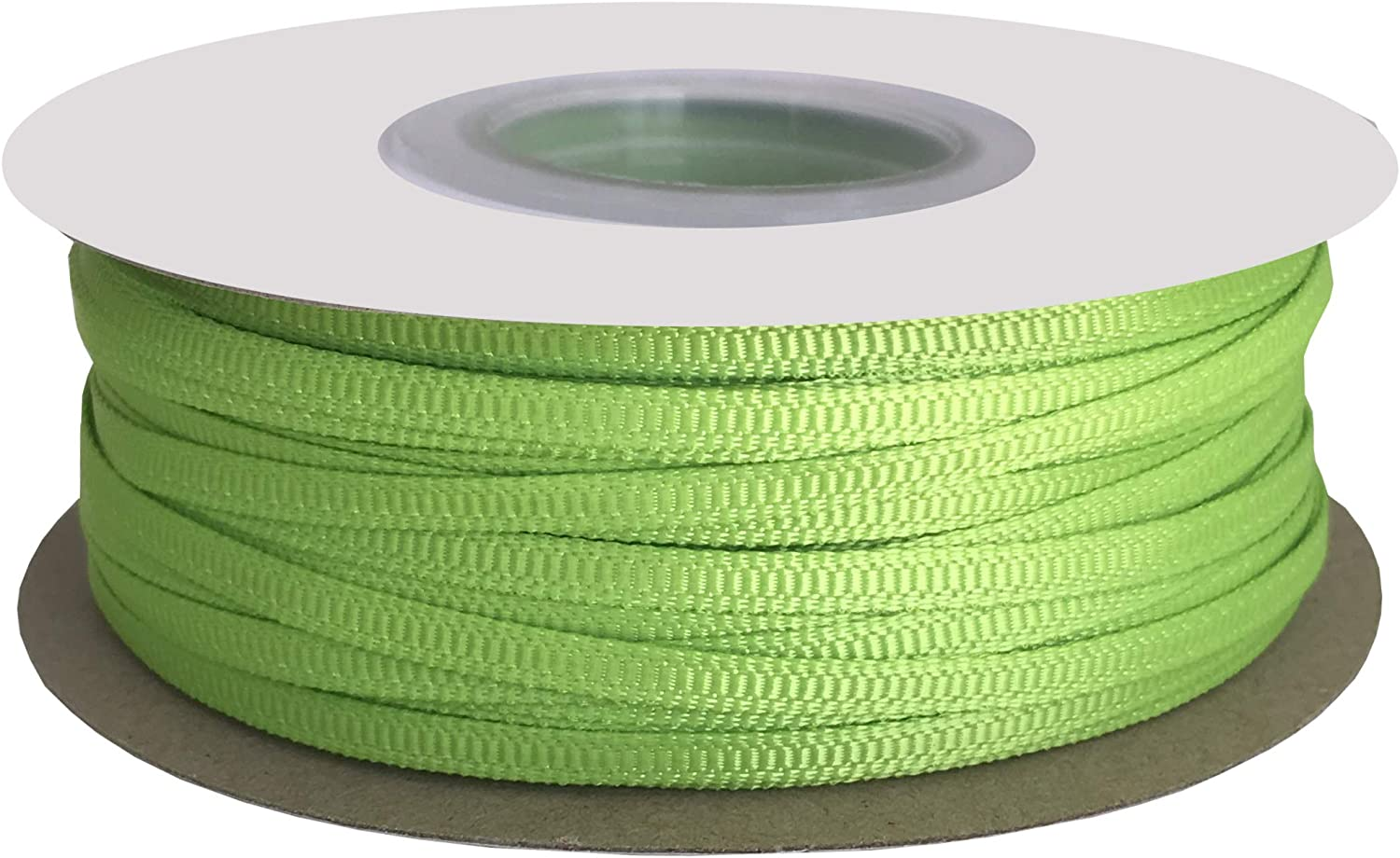 DUOQU 1/8 inch Wide Grosgrain Ribbon 100 Yards Roll Multiple Colors Apple Green