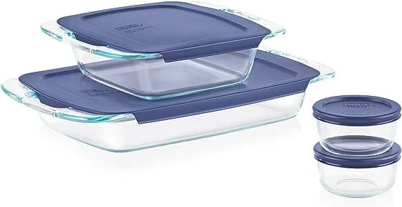 Pyrex Easy Grab Glass Bakeware and Food Storage Set (8-Piece, BPA-free)