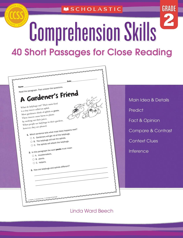 - Comprehension Skills: Short Passages For Close Reading: Grade 2
