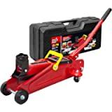 BIG RED T820014S Torin Hydraulic Trolley Service/Floor Jack with Blow Mold Carrying Storage Case, 1.5 Ton (3,000 lb…