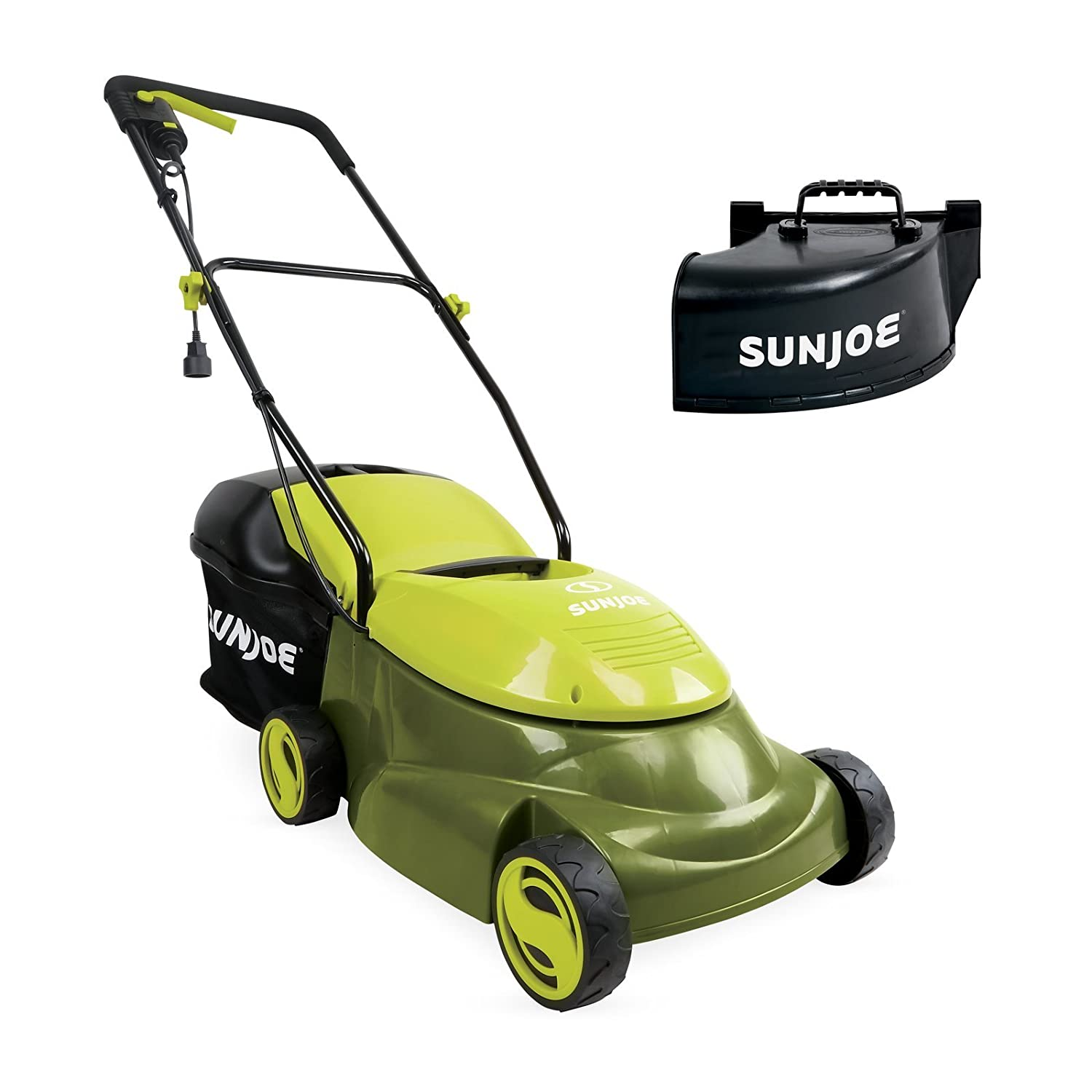 Sun Joe MJ401E-PRO 14 inch 13 Amp Electric Lawn Mower w Side Discharge Chute, 14