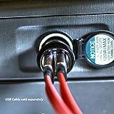 2400mAh Dual USB Car Charger For Fitbit Versa, Flex 2, Flex, Ionic, Alta Fitness Tracker, Alta HR, Alta Activity Tracker, Charge 2, Charge HR, Surge, Blaze